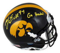 "A.J. Epenesa Signed Iowa Hawkeyes Mini-Helmet Inscribed ""Go Hawks!"" (Beckett Hologram) at PristineAuction.com"