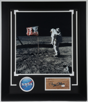 Buzz Aldrin Signed 23.5x27.5 Custom Framed Cut Display (JSA COA) at PristineAuction.com