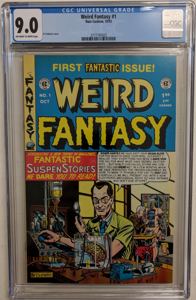 "1992 ""Weird Fantasy"" Issue #1 EC Comic Book (CGC 9.0) at PristineAuction.com"