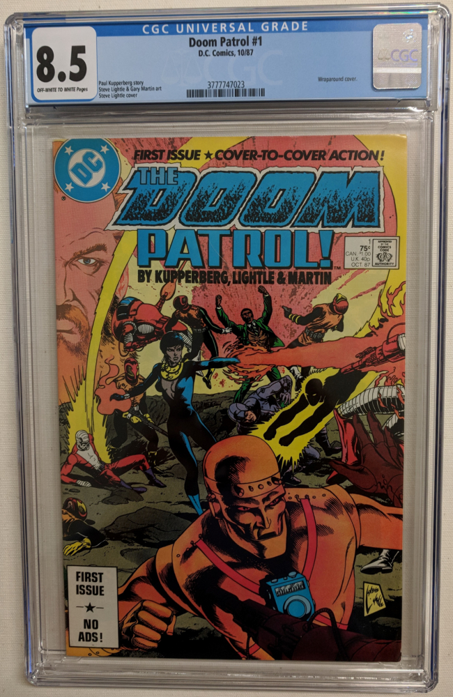 "1987 ""Doom Patrol"" Issue #1 DC Comic Book (CGC 8.5) at PristineAuction.com"