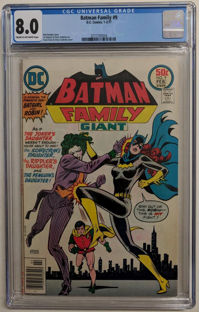"1977 ""Batman Family"" Issue #9 DC Comic Book (CGC 8.0) at PristineAuction.com"
