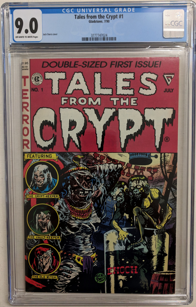 """1990 """"Tales from the Crypt"""" Issue #1 EC Comic Book (CGC 9.0) at PristineAuction.com"""