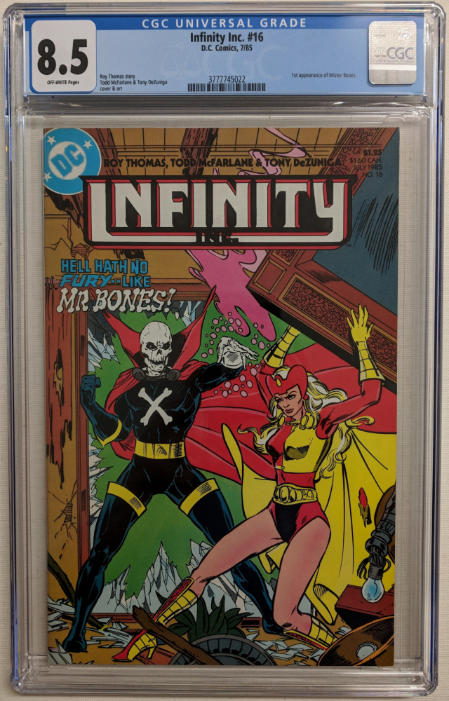 """1985 """"Infinity Inc"""" Issue #16 DC Comic Book (CGC 8.5) at PristineAuction.com"""
