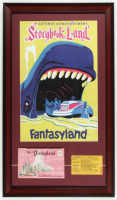 "Disneyland Fantasyland's ""Storybook Land"" 15x26 Custom Framed Print Display with Vintage 1960s Storybook Land ""D"" Ride Ticket & Vintage Photo Portfolio (See Description) at PristineAuction.com"