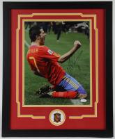 David Villa Signed 18x22 Custom Framed Photo Display (JSA COA) at PristineAuction.com