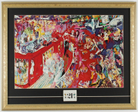 "LeRoy Neiman ""The 21 Club New York City"" 18x23 Custom Framed Print Display with Vintage Original Club Matchbook at PristineAuction.com"