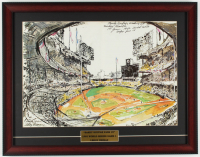 "LeRoy Neiman ""Sandy Koufax Fans 15"" 18x23 Custom Framed Print Display at PristineAuction.com"