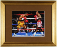 Sugar Ray Leonard & Thomas Hearns Signed 13x16 Custom Framed Photo Display (Beckett COA) at PristineAuction.com