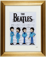 The Beatles 13x16 Custom Framed Hand-Painted Animation Serigraph Cel Display at PristineAuction.com