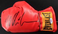 Mike Tyson Signed 16x30 Custom Framed Everlast Boxing Glove Display (PSA COA) at PristineAuction.com