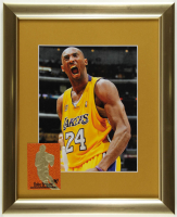 Kobe Bryant Signed Lakers 13x16 Custom Framed Photo Display with 1996-97 Skybox EX-2000 Feel The Game 23KT Gold Card (See Description) at PristineAuction.com