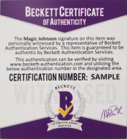 Magic Johnson Signed NBA Logo Basketball with Display Case (Beckett COA) at PristineAuction.com