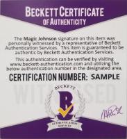 Magic Johnson Signed NBA Logo Black Basketball with Display Case (Beckett COA) at PristineAuction.com