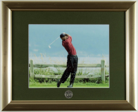 Tiger Woods 100th U.S. Open 13x16 Custom Framed Photo Display with Pebble Beach Pin at PristineAuction.com