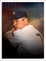 "James G. Ferrara Signed Mickey Mantle Artwork - ""The Mick"" 18x24 Print (Championship Art COA) at PristineAuction.com"
