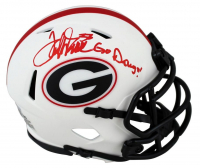 "Terrell Davis Signed Georgia Bulldogs Lunar Eclipse Alternate Speed Mini Helmet Inscribed ""Go Dawgs!"" (Beckett Hologram) at PristineAuction.com"
