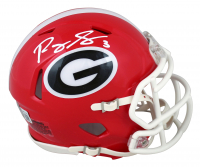 Roquan Smith Signed Georgia Bulldogs Speed Mini Helmet (Beckett Hologram) at PristineAuction.com