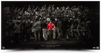 "Tiger Woods Signed ""Moving Forward"" 18x36 Photo (UDA COA) at PristineAuction.com"