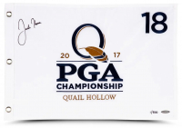 Justin Thomas Signed LE 2017 PGA Golf Pin Flag (UDA COA) at PristineAuction.com