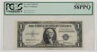 1935-F $1 Silver Certificate Bank Note (PCGS Choice About New 58 PPQ) at PristineAuction.com