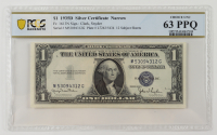 1935-D $1 Silver Certificate Bank Note (PCGS Choice Unc 63 PPQ) at PristineAuction.com