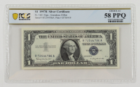 1957-B $1 Silver Certificate Bank Note (PCGS Choice About Unc 58 PPQ) at PristineAuction.com