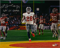 "Leonard Fournette Signed Buccaneers 16x20 Photo Inscribed ""SB LV Champs"" (Fanatics Hologram) at PristineAuction.com"