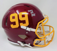"""Chase Young Signed Washington Full-Size Authentic On-Field Speed Helmet Inscribed """"2020 NFL DPOY"""" (Fanatics Hologram) at PristineAuction.com"""