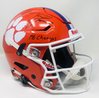 "Trevor Lawrence Signed Clemson Tigers Full-Size Authentic On-Field SpeedFlex Helmet Inscribed ""18 Champs"" (Fanatics Hologram) at PristineAuction.com"