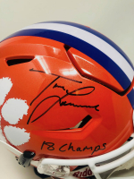 """Trevor Lawrence Signed Clemson Tigers Full-Size Authentic On-Field SpeedFlex Helmet Inscribed """"18 Champs"""" (Fanatics Hologram) at PristineAuction.com"""