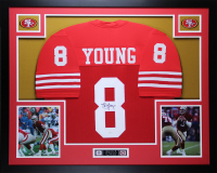 Steve Young Signed 35x43 Custom Framed Jersey (JSA COA) at PristineAuction.com