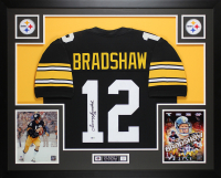 Terry Bradshaw Signed 35x43 Custom Framed Jersey (Beckett COA) at PristineAuction.com