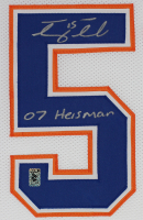 """Tim Tebow Signed Florida Gators 35x43 Custom Framed Jersey Display Inscribed """"07 Heisman"""" (Tebow COA) at PristineAuction.com"""