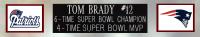 Tom Brady Signed Patriots 35x43 Custom Framed Jersey (Fanatics Hologram) at PristineAuction.com