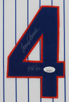 "Tom Seaver Signed 35x43 Custom Framed Jersey & Photo Display Inscribed ""HOF 92"" (JSA COA) at PristineAuction.com"