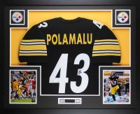 Troy Polamalu Signed 35x43 Custom Framed Jersey (JSA COA) at PristineAuction.com