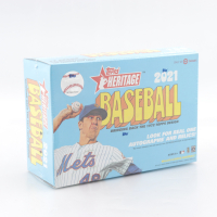 2021 Topps Heritage Baseball Mega Box of (17) Packs at PristineAuction.com