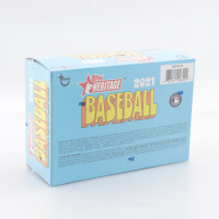 2021 Topps Heritage Baseball Mega Box with (17) Packs at PristineAuction.com