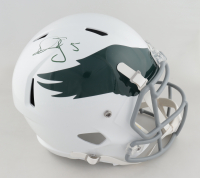 Donovan McNabb Signed Eagles Full-Size Speed Helmet (JSA COA) (See Description) at PristineAuction.com