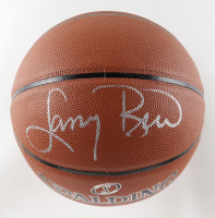 Larry Bird Signed NBA Basketball (PSA COA & Bird Hologram) (See Description) at PristineAuction.com