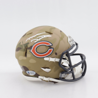 Mike Ditka Signed Bears Camo Alternate Speed Mini Helmet (Beckett COA) at PristineAuction.com