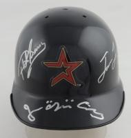 Jose Cruz, Jason Lane & Phil Garner Signed Astros Mini Batting Helmet (JSA COA) at PristineAuction.com