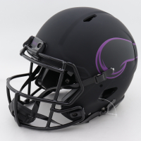 """Harrison Smith Signed Vikings Full-Size Authentic On-Field Eclipse Alternate Speed Helmet Inscribed """"Hitman"""" (Beckett COA) (See Description) at PristineAuction.com"""