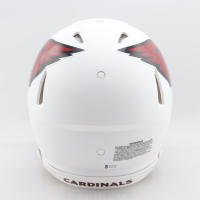 Larry Fitzgerald Signed Cardinals Full-Size Matte White Authentic On-Field Speed Helmet (Beckett COA) at PristineAuction.com