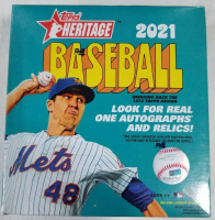 2021 Topps Heritage Baseball WalMart MEGA Box with (138) Cards at PristineAuction.com