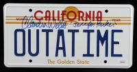 "Claudia Wells Signed Back to the Future ""OUTATIME"" DeLorean Prop Replica License Plate Inscribed ""Jennifer Parker"" (JSA COA) (See Description) at PristineAuction.com"