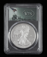2020-W American Silver Eagle $1 One Dollar Coin V75 Privy - First Strike, V75 Label (PCGS PR69 Deep Cameo) at PristineAuction.com