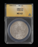 1884-O Morgan Silver Dollar, VAM-41A (ANACS MS62) at PristineAuction.com