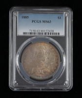 1885 Morgan Silver Dollar (PCGS MS63) (Toned) at PristineAuction.com