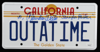 "Claudia Wells Signed Back to the Future ""OUTATIME"" DeLorean Prop Replica License Plate Inscribed ""Jennifer Parker"" & ""XO"" (JSA COA) (See Description) at PristineAuction.com"